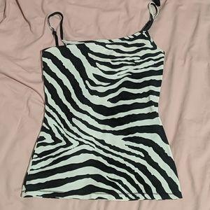 Express zebra print built in bra cami
